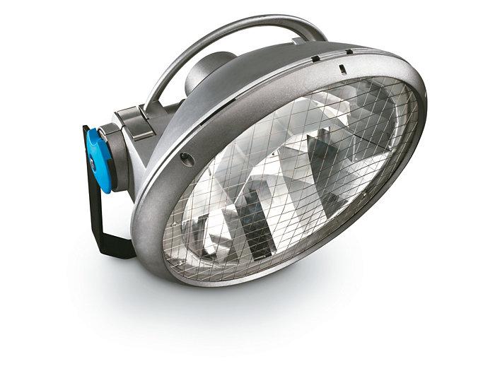 La lampe aux halogénures métalliques ArenaVision MVF404 de Philips Lighting, une composante de la gamme de lampes HID à flux élevé pour l'éclairage sportif.